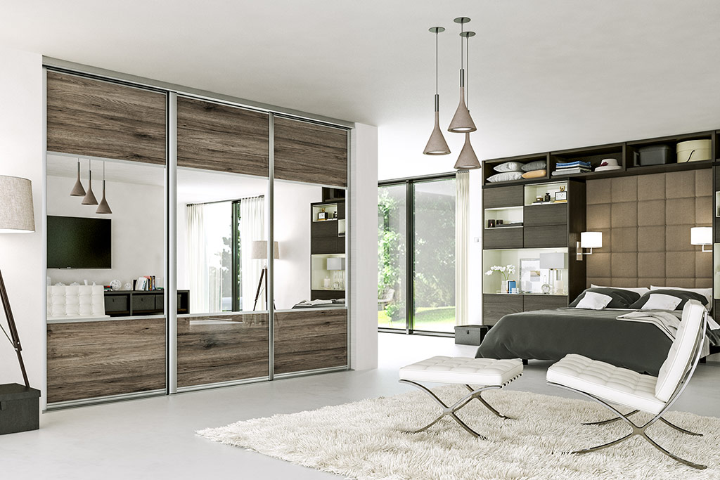 Custom made sliding door wardrobes in a choice of colours with bespoke interiors.