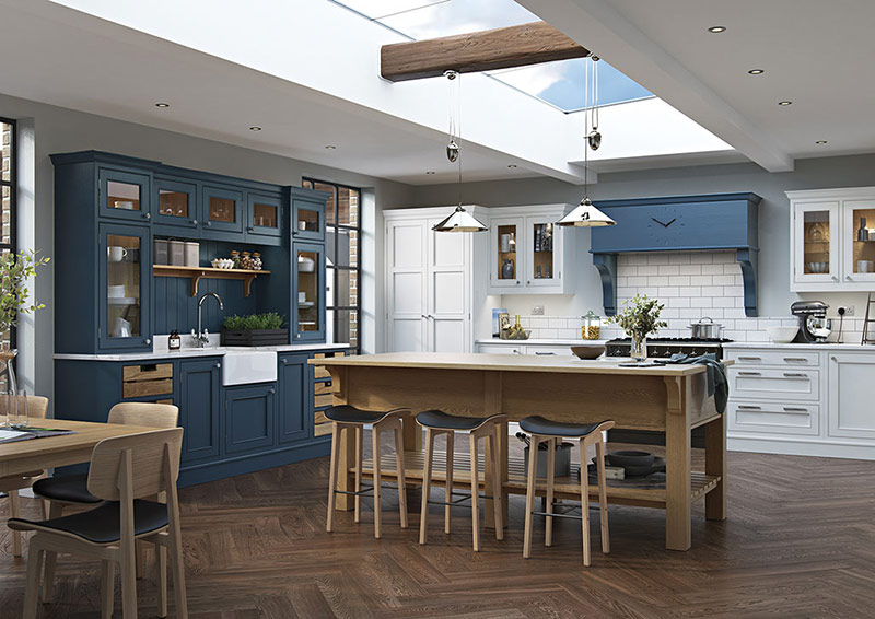 In-frame kitchens designed and made in Co Tyrone, Northern Ireland.