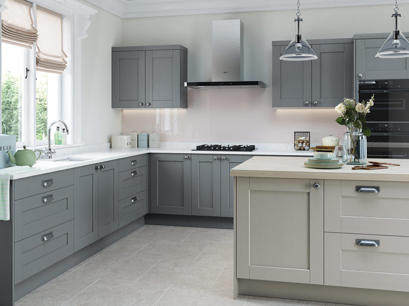 Bespoke Kensington modern classic kitchen, designed and built in Dungannon, Co Tyrone Northern Ireland.
